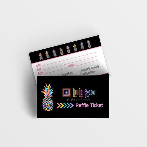 Raffle ticket Lularoe printed Pineapple