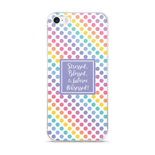 Stressed, blessed Lularoe Obsessed - Rainbow Dots