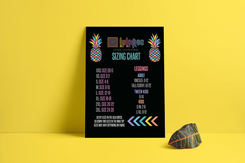 Lularoe sizing chart printable Pineapple