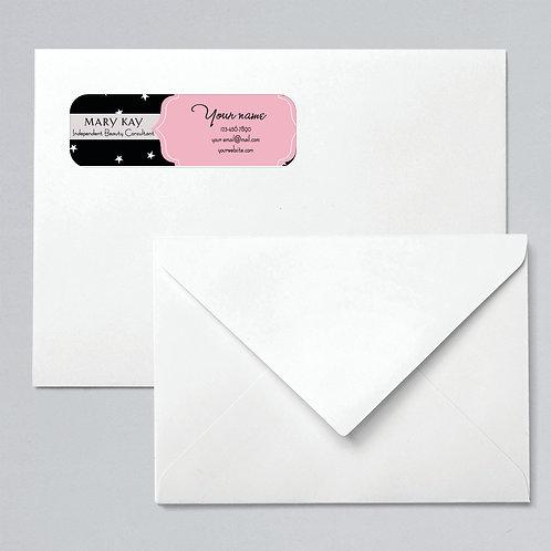 Mary Kay address labels stars