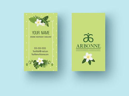 Arbonne spring business card vertical