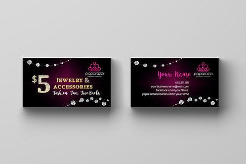 Paparazzi accessories business card diamonds