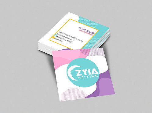 Zyia square business card Memphis