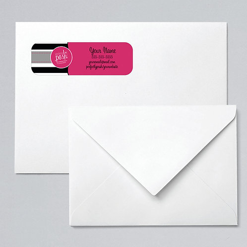 Perfectly Posh return address label stripes