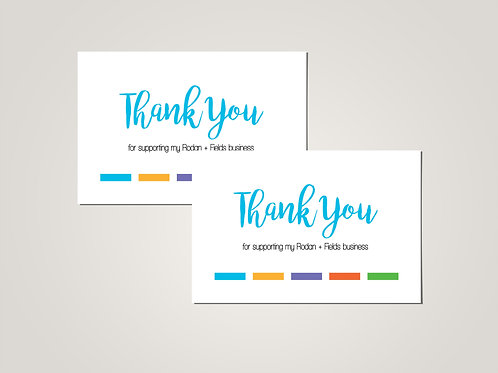 Rodan Fields Thank you card postcard printed
