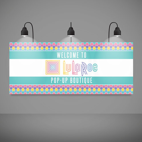 Welcome pop up boutique banner Lularoe