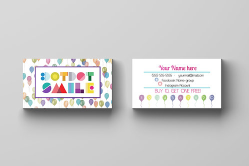 DotDot Smile business card ballons