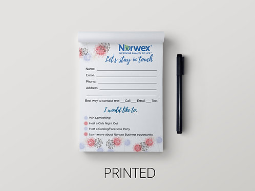 Norwex Notepad- Let's stay in touch