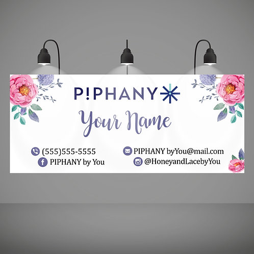 PIPHANY Stylist vinyl banner watercolor