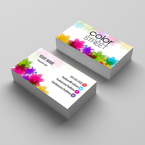 Color Street Nails Strips Business card