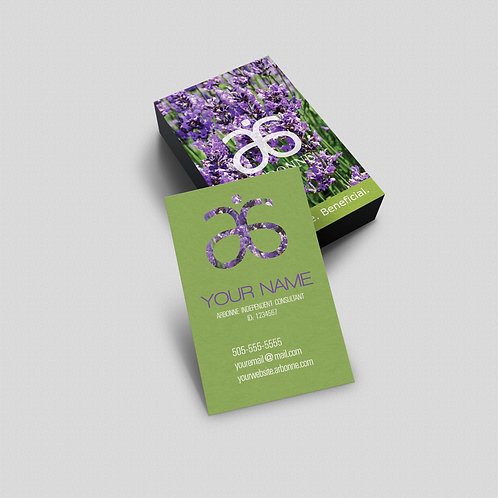 Arbonne lavander business card vertical