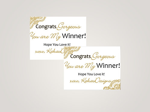 Honey & Lace Winner card - Gorgeous Card - golden lace