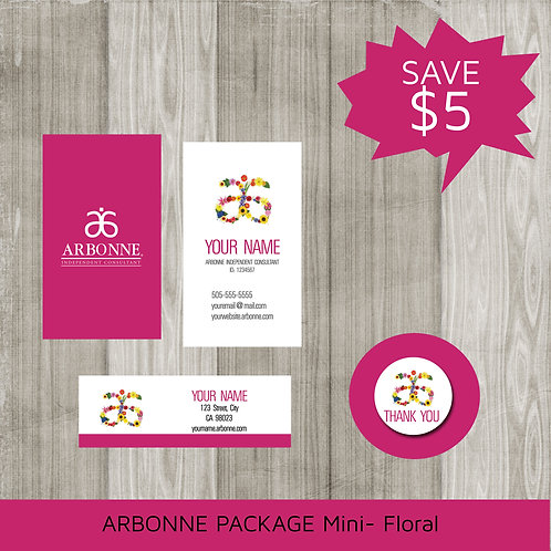Mini marketing package Arbonne floral