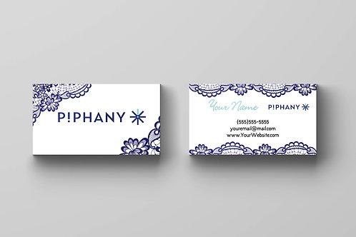 P!PHANY business card Piphany card