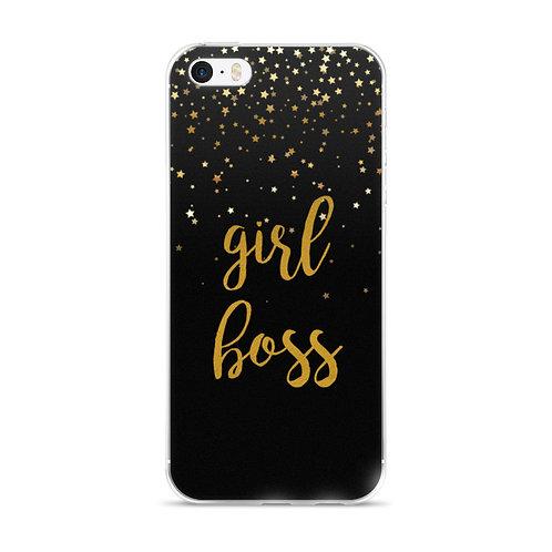 Girl Boss golden stars iphone 5