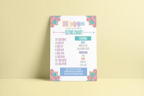 Lularoe sizing chart printable mandala