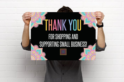 Thank your for supporting small business poster Lularoe mandala