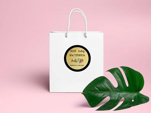 Rodan Fields stickers Decide how to looks tomorrow sticker gold