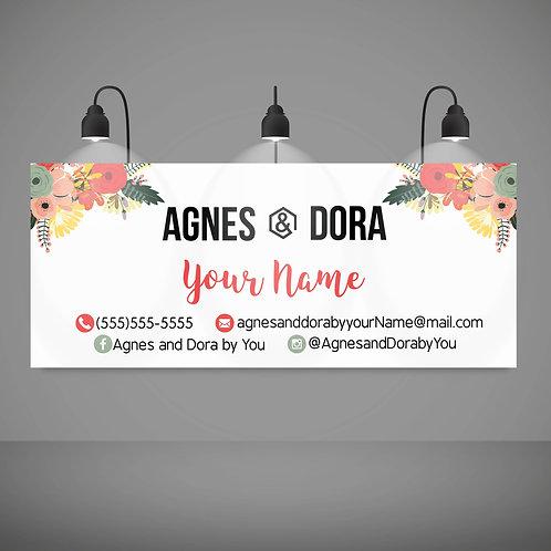 Agnes & Dora banner floral