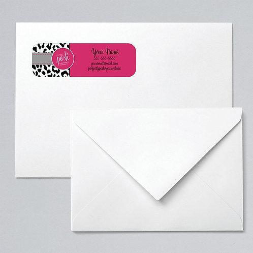 Perfectly Posh return address label animal print