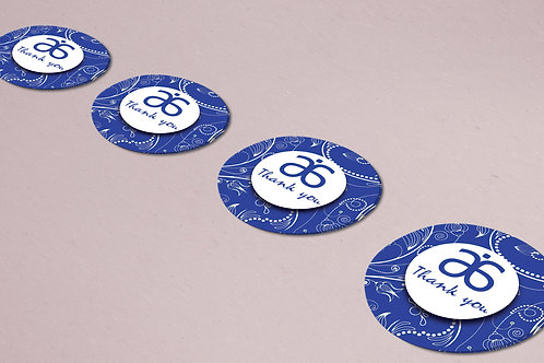 Arbonne Thank you sticker Blue