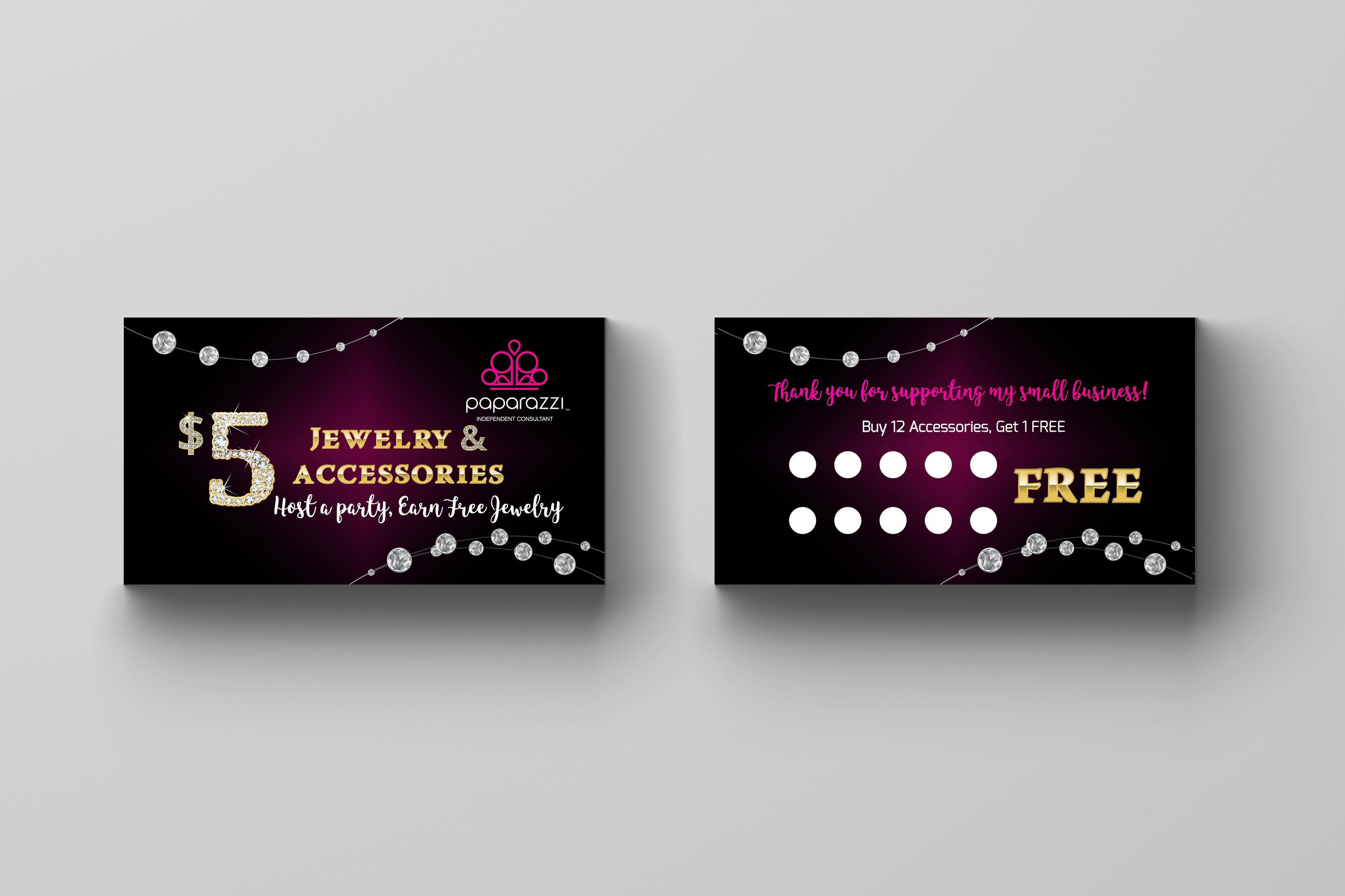 loyalty card referral card punch card