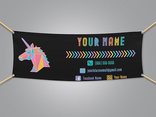 Lularoe banner Unicorn Black