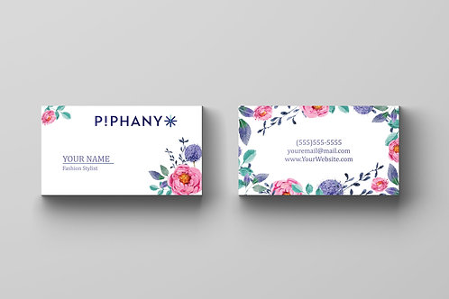 P!PHANY business card Piphany card watercolor
