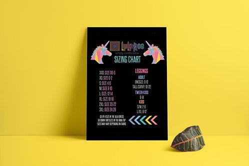 Lularoe sizing chart printable  Unicorn