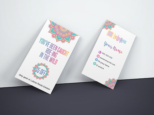 Roe-ing the wild Lularoe business card Mandala white