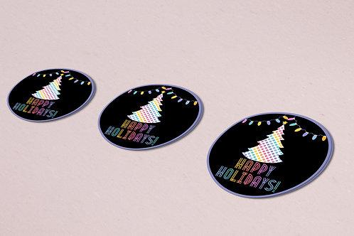 Happy Holidays Lularoe stickers