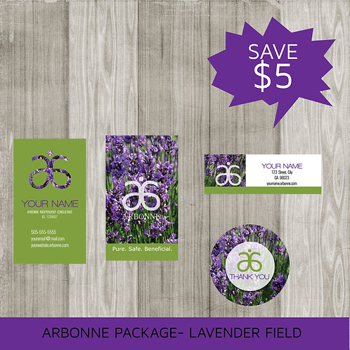 Mini marketing package Arbonne lavender