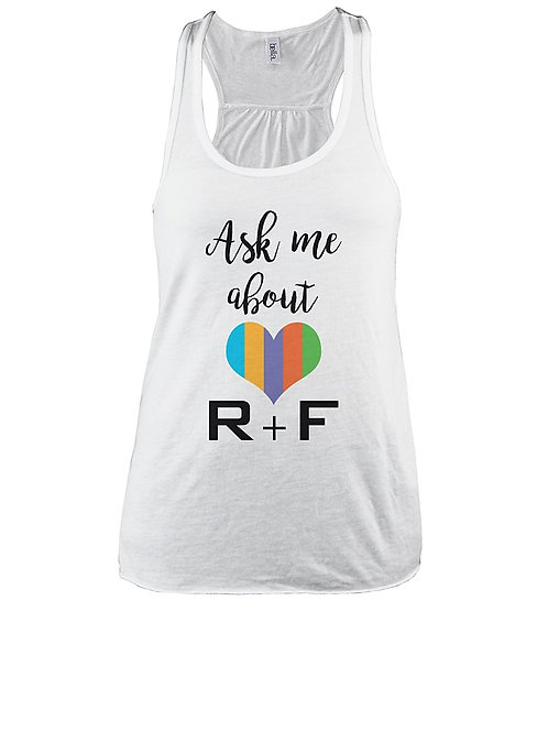 Ask me abour R+F racerback tank white