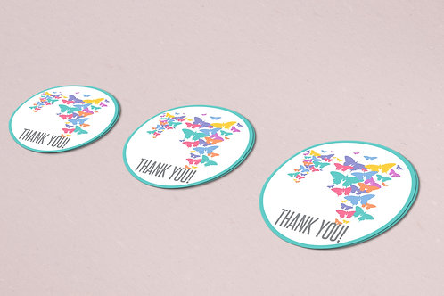 Lularoe rainbow butterflies Thank you stickers