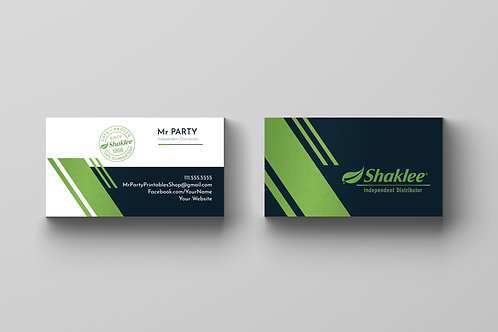 Shaklee business card Modern