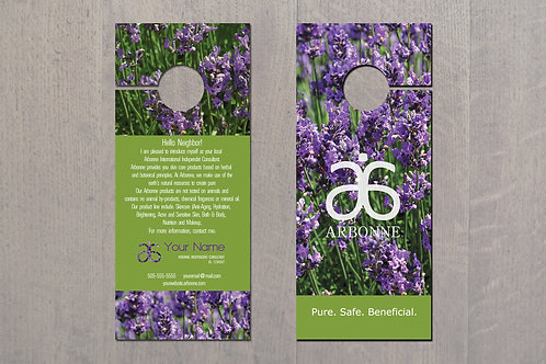 Door Hanger Arbonne business lavander field