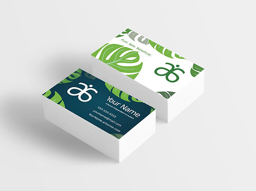 Arbonne Business Card - Tropical Green
