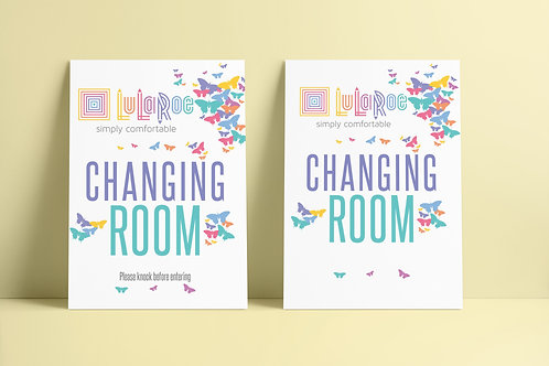 Lularoe changing room sign printable butterflies