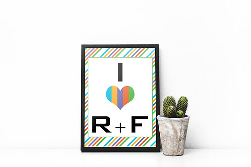 I love RF rodan fields wall art stripes