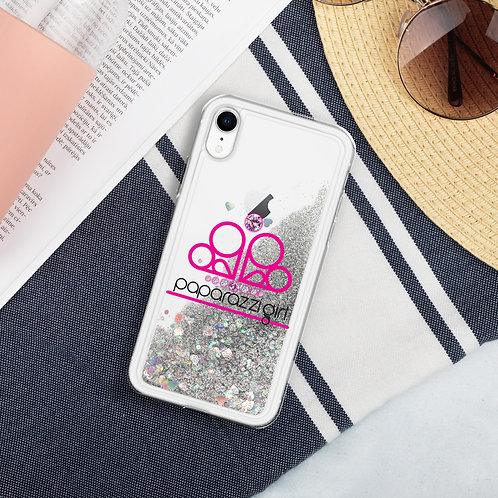 Paparazzi Girl Liquid SIlver Glitter Iphone Case