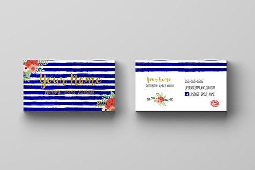 Lipsense business card Navy Gold