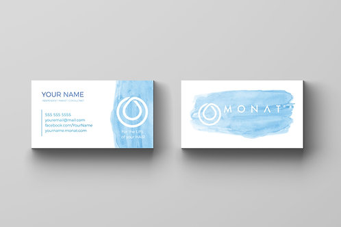 Monat watercolor business card