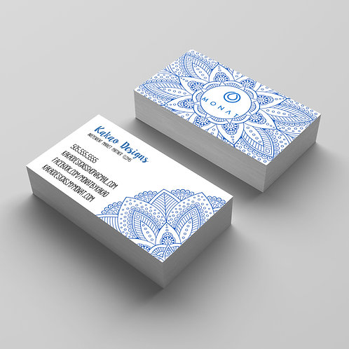 Monat Mandala business card hair care