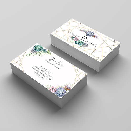 BeautyCounter business cards- Succulents