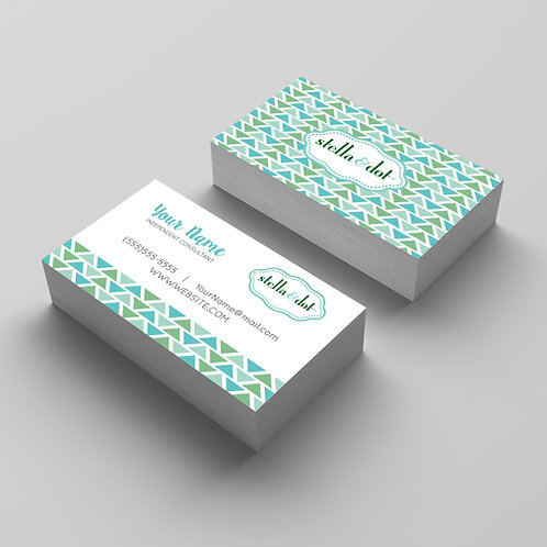 Stella&dot business card triangle