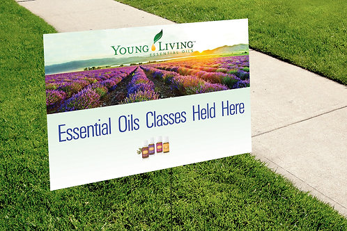 Young Living Essential Classes yard sign