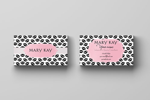 Mary Kay business card lips
