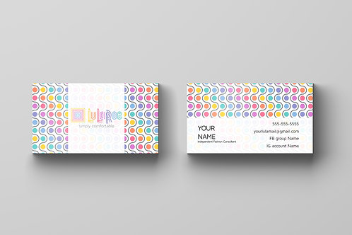 LuLaRoe business card Colorful Dots