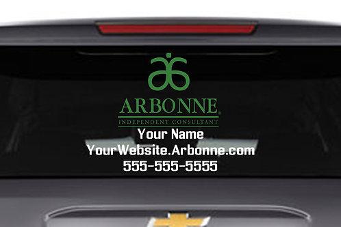 Arbonne Car Decal dual color Large