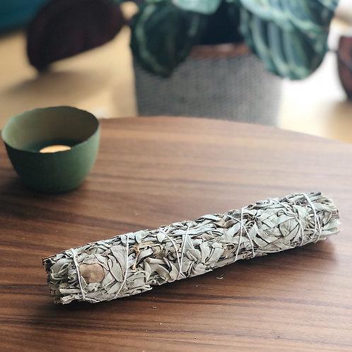 Witte salie smudge stick - large